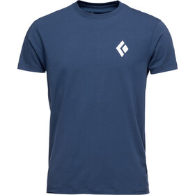 Black Diamond Equipment for Alpinist Camiseta Manga Corta Hombre, ink blue
